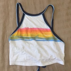 Urban Outfitters Rainbow Crop -NWOT